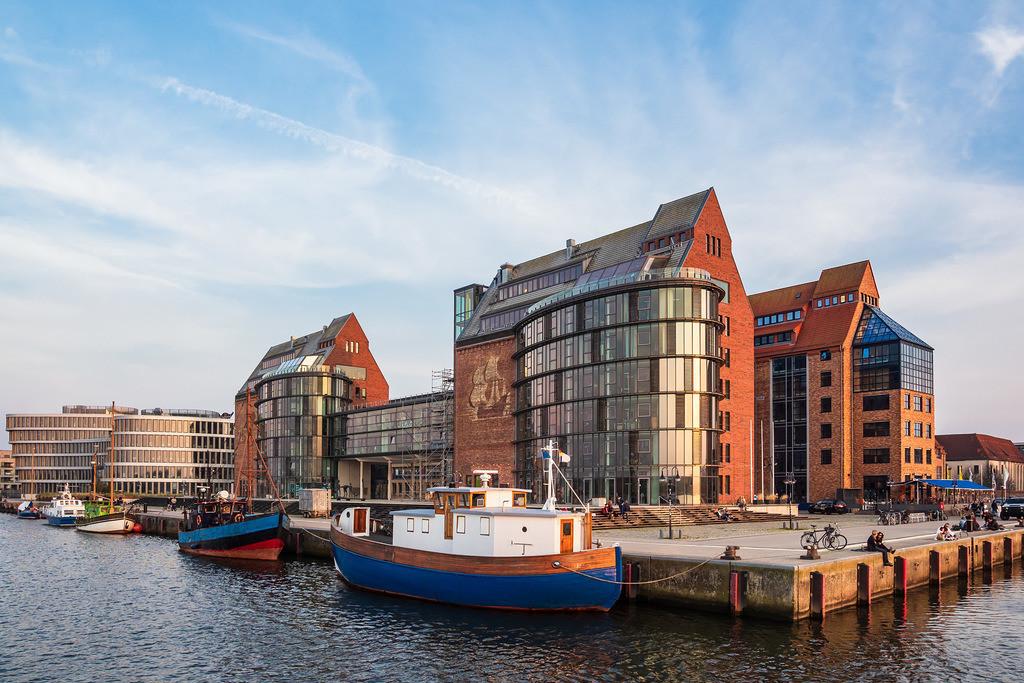 Blick auf die Silohalbinsel in Rostock | Blick auf die Silohalbinsel in Rostock.
