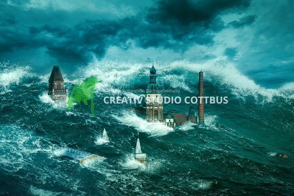 Cottbus unter Wasser