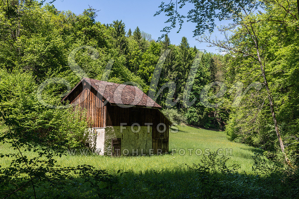 Feldscheune, Ziefen (BL) | Feldscheune im Riedbachtal, Ziefen im Kanton Baselland.