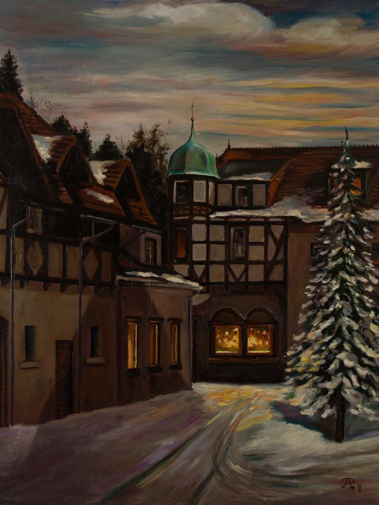 Weihnachtslandschaft | Originalformat: 60x75  -   Produktionsjahr: 1999
