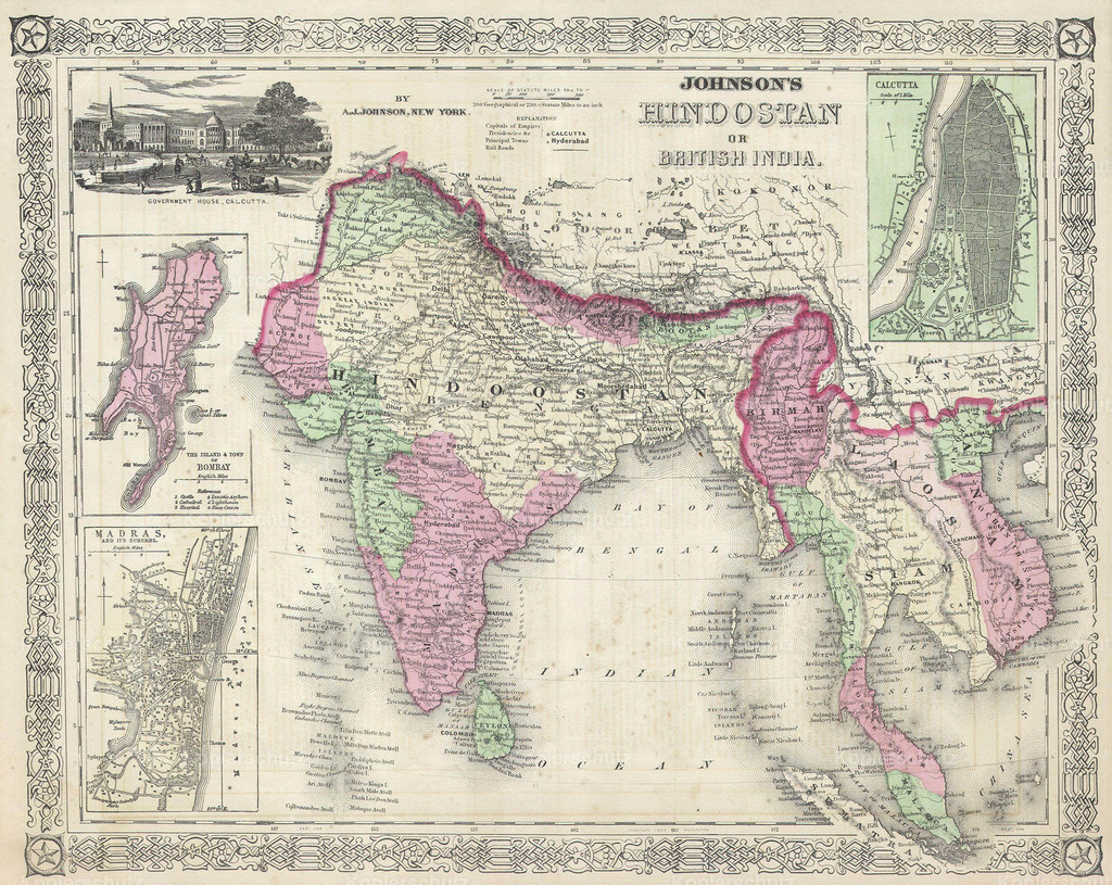 1864_Johnson_s_Map_of_India_(Hindostan_or_British_India)
