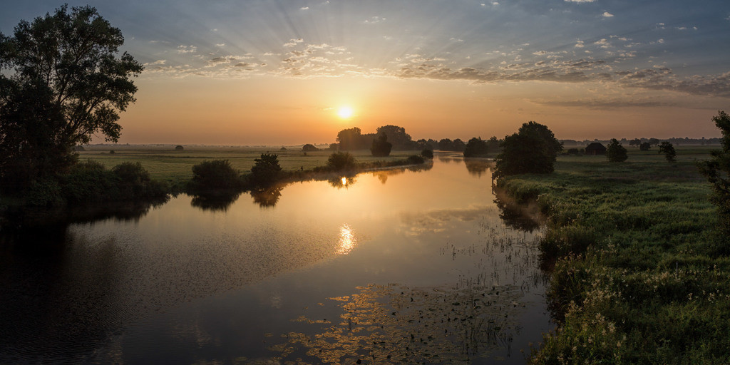 Sonnenaufgang an der Hamme | Fantastischer Sonnenaufgang an der Hamme.