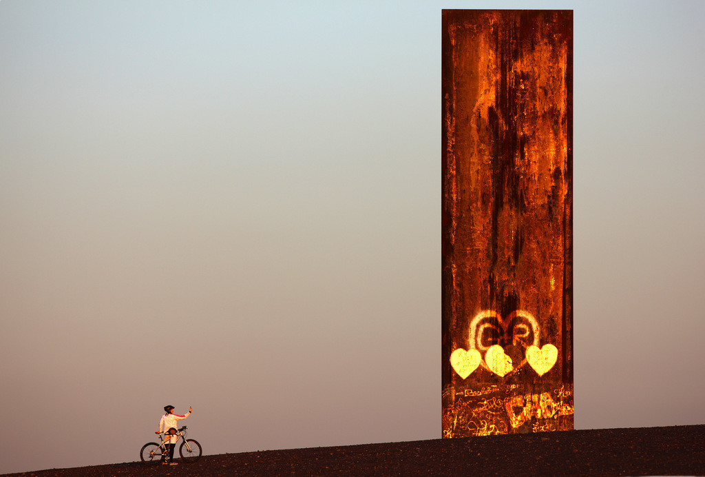 JT-090318-010   Schurenbachhalde, Kunstwerk des britischen Künstlers Richard Serra,