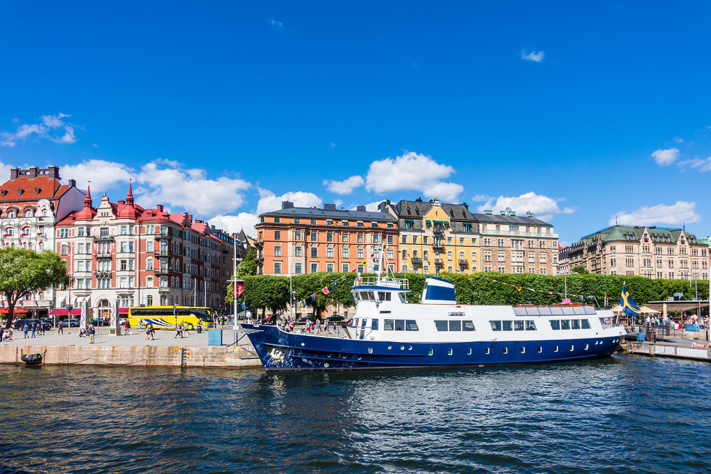 Blick auf die schwedische Hauptstadt Stockholm | Blick auf die schwedische Hauptstadt Stockholm.