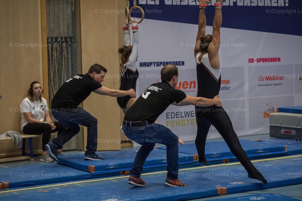 Turnen -  Schweizermeisterschaften Geräteturnen 2019   Appenzell, 23.11.19, Turnen - Schweizermeisterschaften Geräteturnen. (Lorenz Reifler)