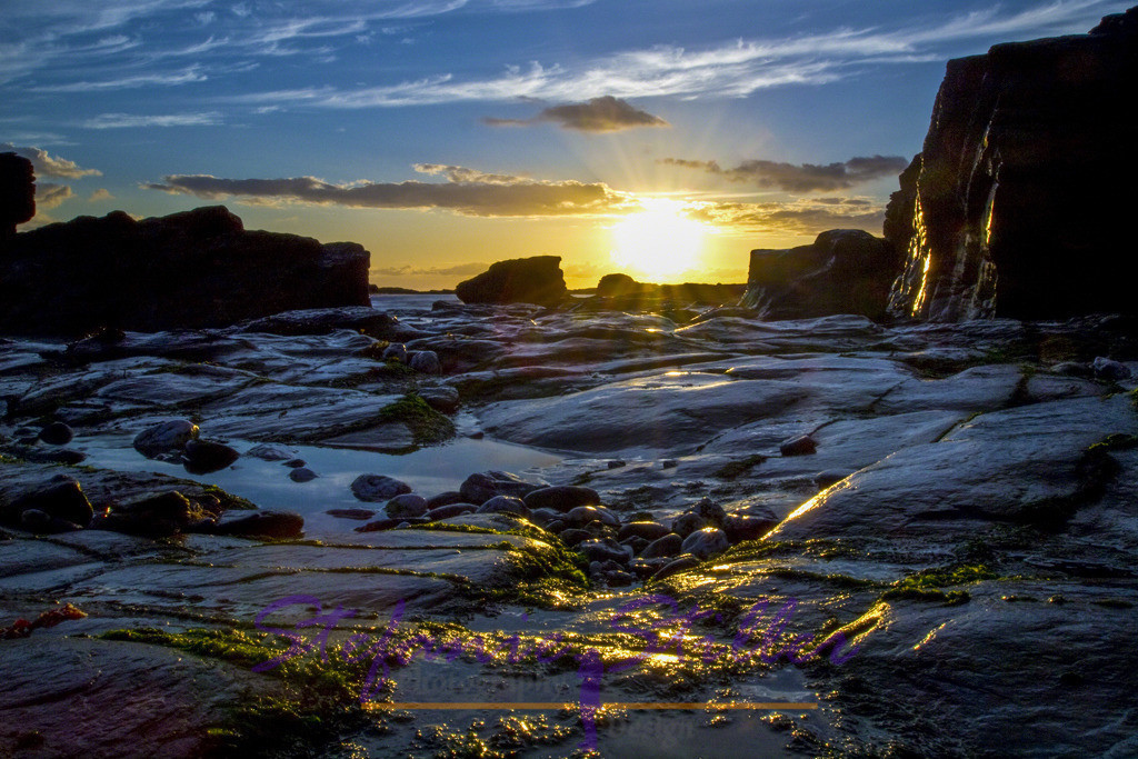 Leuchten der Klippen | Die Klippen leuchten in der untergehenden Sonne
