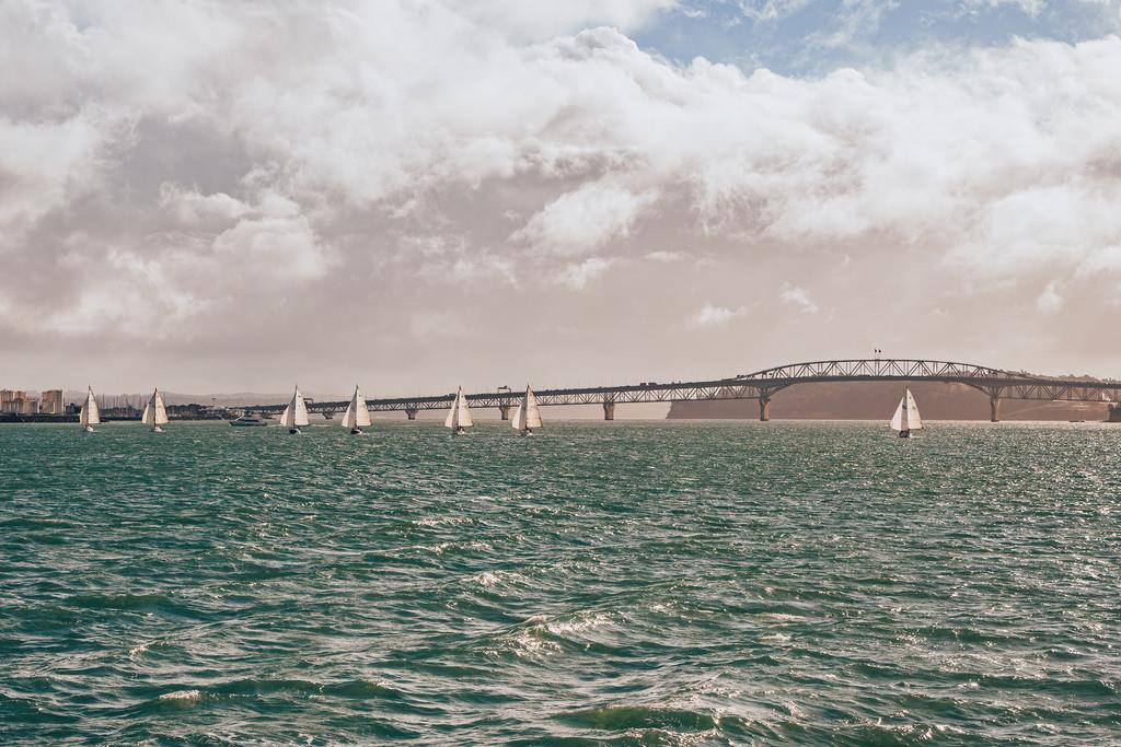 Segelboote im Hafen von Auckland | Segelboote im Hafen von Auckland
