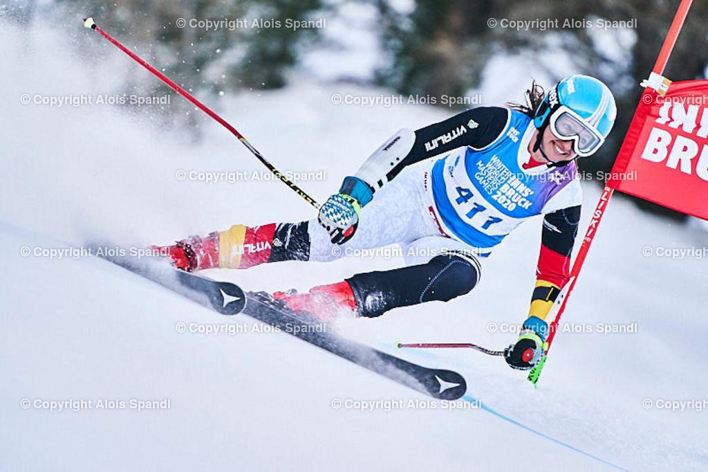 ALS5744_WWMG_GS-II_C | (C) FotoLois.com, Alois Spandl, WinterWorldMastersGames 2020 Innsbruck, Giant Slalom-II Gruppe C Damen, Patscherkofel Olympiaabfahrt, Mi 15. Jänner 2020.