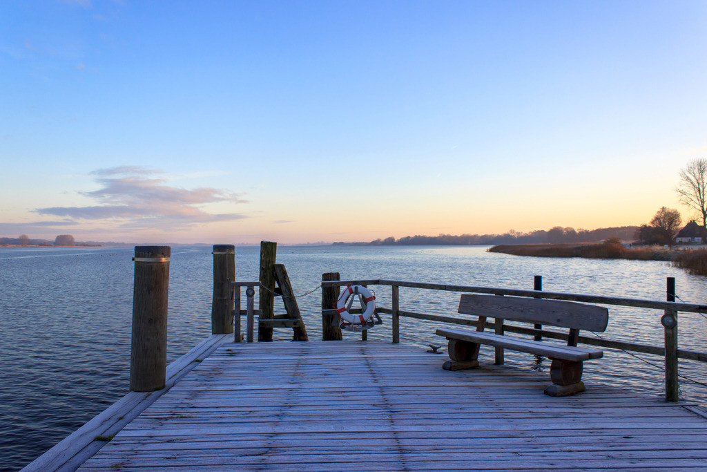 Sieseby an der Schlei | Steg in Sieseby im Winter