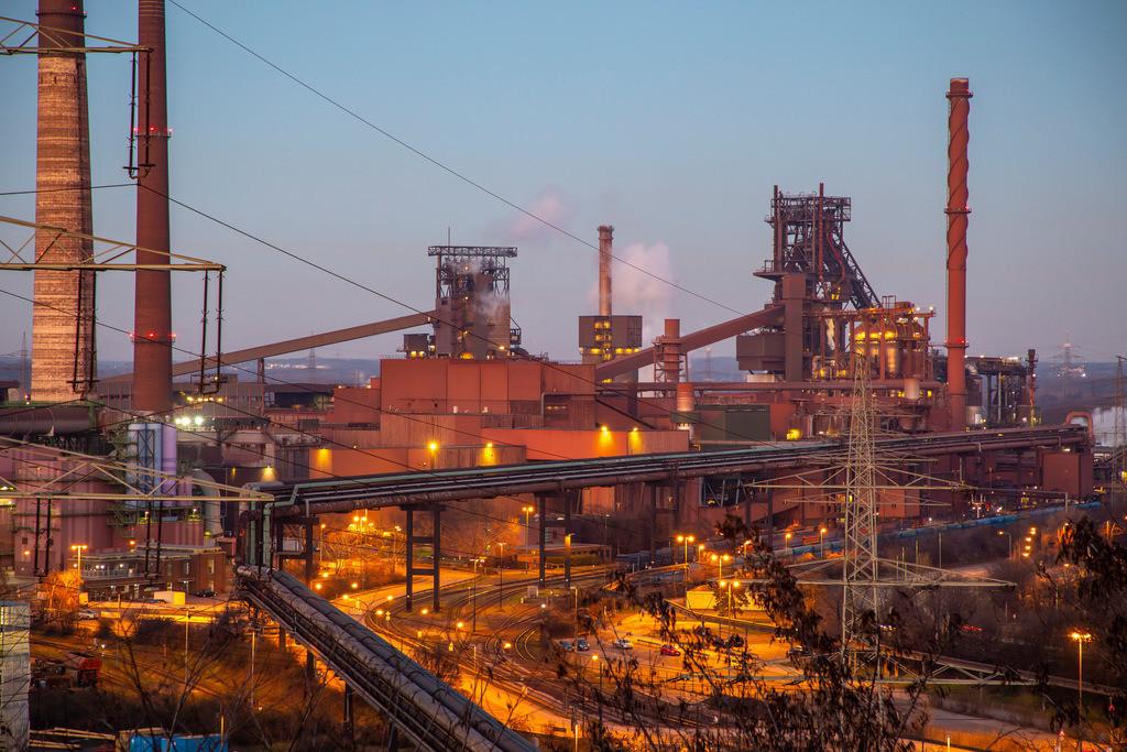 JT-190120-038 | Stahlstandort Duisburg Hamborn, ThyssenKrupp Steel,  Hochöfen Schwelgern 1(Schwarzer Riese) und 2, links