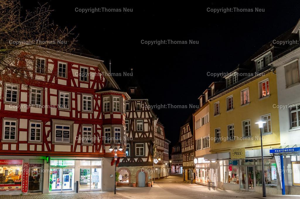 DSC_3400-HDR   Bensheim, Marktplatz, Nachtaufnahme, Blick in Richtung Süden, , Bild: Thomas Neu