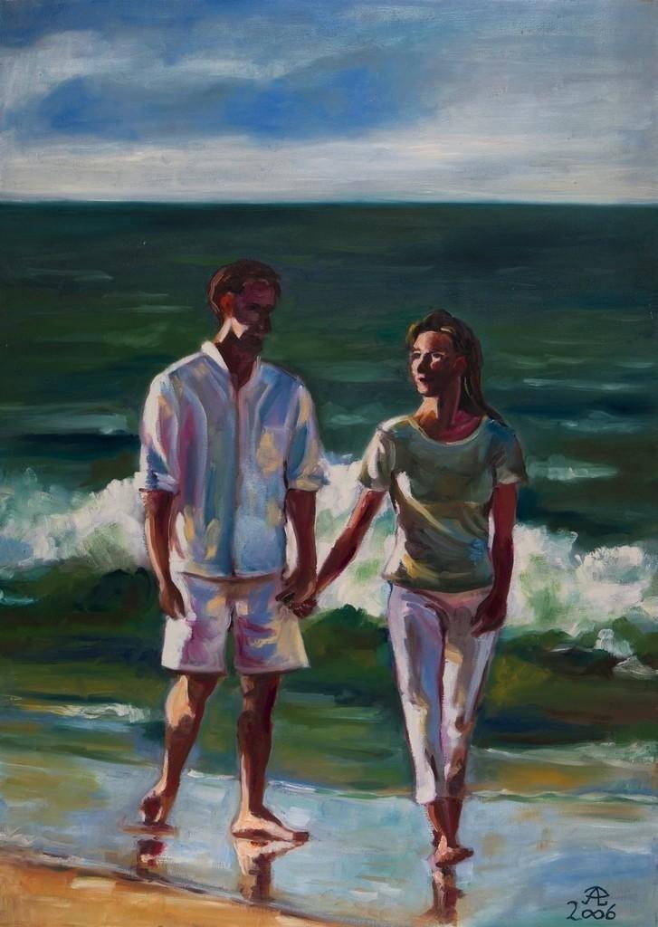 Romanze am Meer | Originalformat: 70x50cm  -  Produktionsjahr: 2006