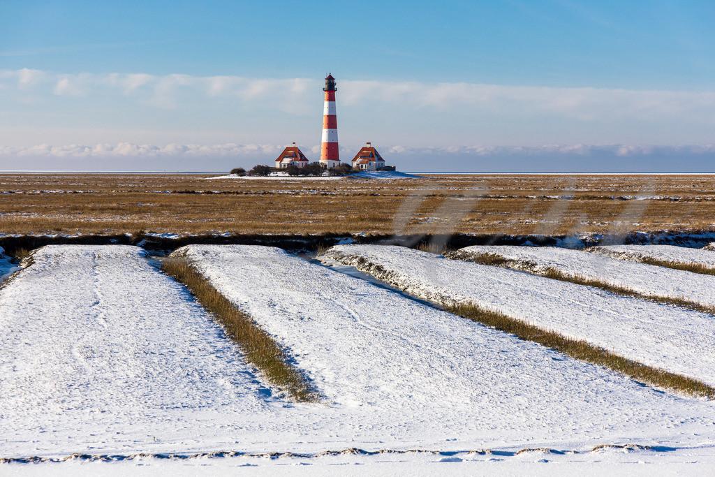 Mirs021-2195 | leuchtturm, westerhever, winter, schnee, schnee, kälte, minusgrade, kalt, frost, eis, wintereinbruch