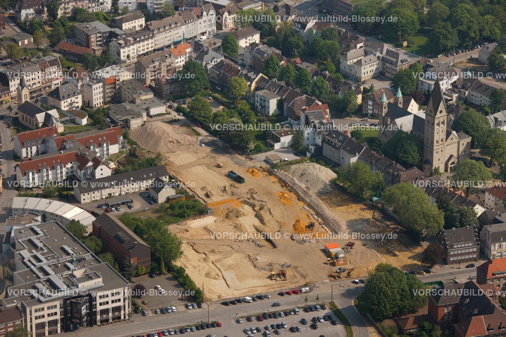 RE11046281 | Paulusstrasse, Pauluskirche, ehemalige Kollegschule,  Recklinghausen, Ruhrgebiet, Nordrhein-Westfalen, Germany, Europa
