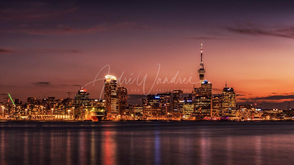 Auckland am Abend