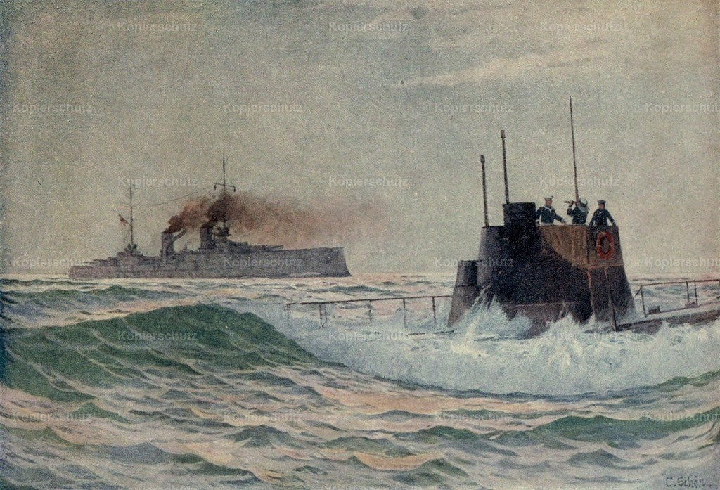 Schon_ Carl (b.1876) - The Second Phase of the Great War 1915 - A German submarine