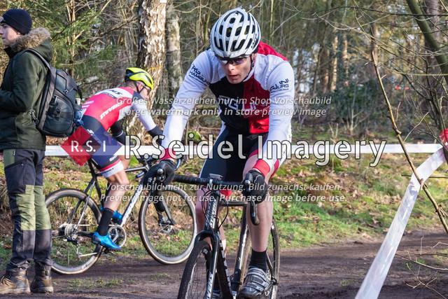 Radsport, Stevens Cyclocross Cup 2019, 10. Lauf (RSG Nordheide), Rennen 9 (Elite Herren + U23, Masters 2 / Elite Ü40 und Junioren U19), Buchholz i.d.N., 19.01.2020   Christoph Sang (RG Uni Hamburg, #179, Masters 2)