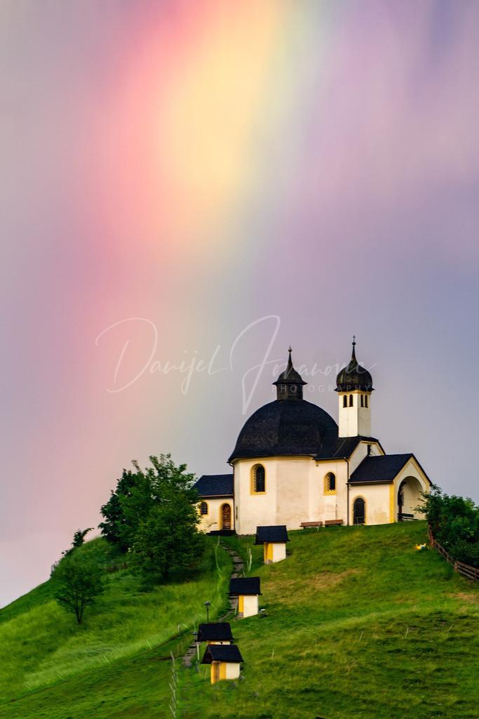 Kalvarienberg | Regenbogen über dem Kalvarienberg