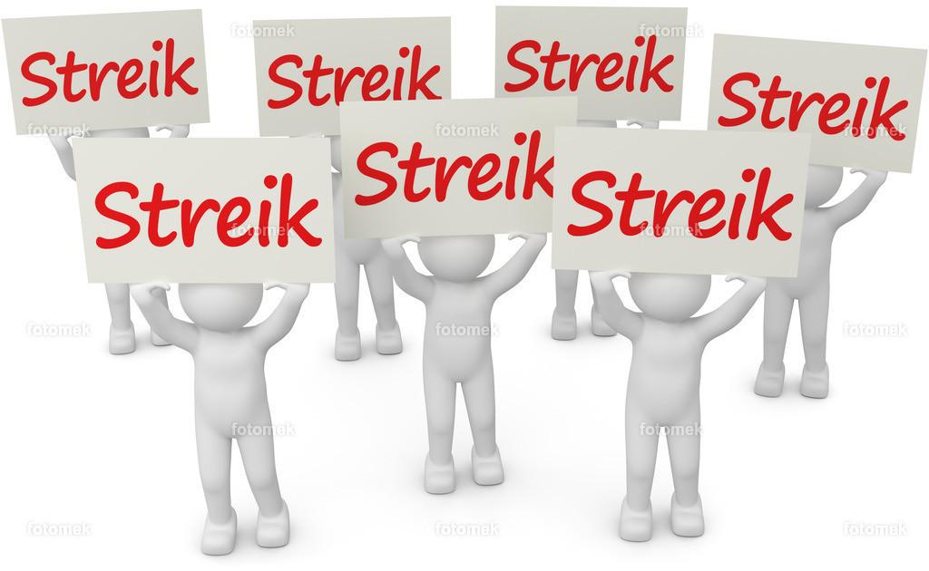 3d Männchen Streik weiss