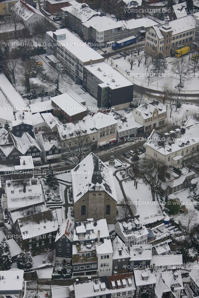 KT10011162 | Schnee,  Kettwig, Essen, Ruhrgebiet, Nordrhein-Westfalen, Deutschland, Europa, Foto: Luftbild Hans Blossey, Copyright: hans@blossey.eu, 06.01.2010, E 006° 56' 30.53