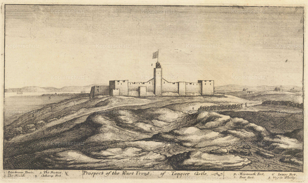 Wenceslas_Hollar_-_West_front_of_Tangier_castle