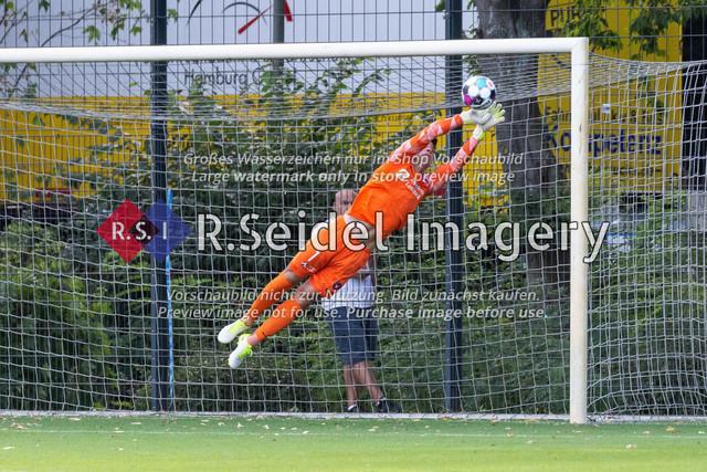 Fußball, Herren, Testspiel, Hamburger SV - FC Midtjylland, HSV-Trainingsplatz am Volksparkstadion, 20.08.2020 | Jesper Hansen (#1, Midtjylland, Torwart)