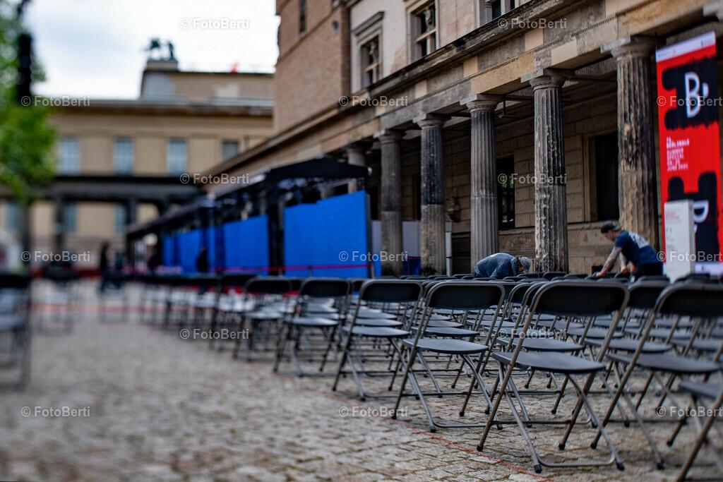 vorbereitungen_preisverleihung | Letzte Vorbereitungen im Komplex des Alten Museums für die Preisverleihung - Berlinale 2021