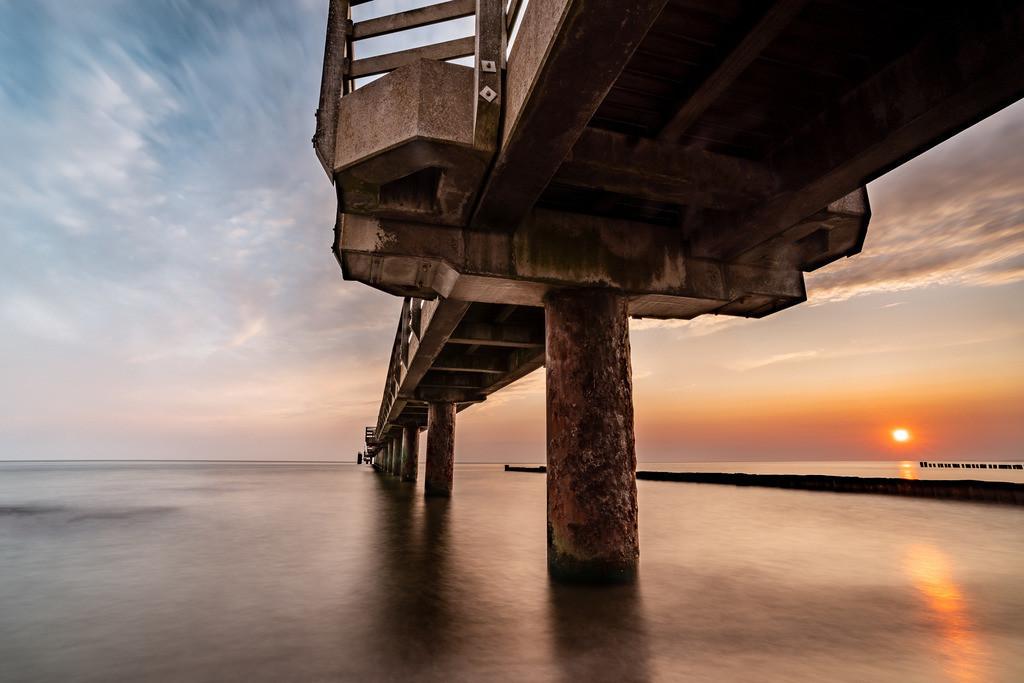Sunrise unter der Seebrücke 2