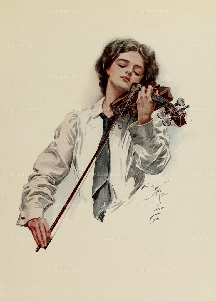 Fisher_ Harrison (1875-1934) - Fair Americans 1911 - The Violinist