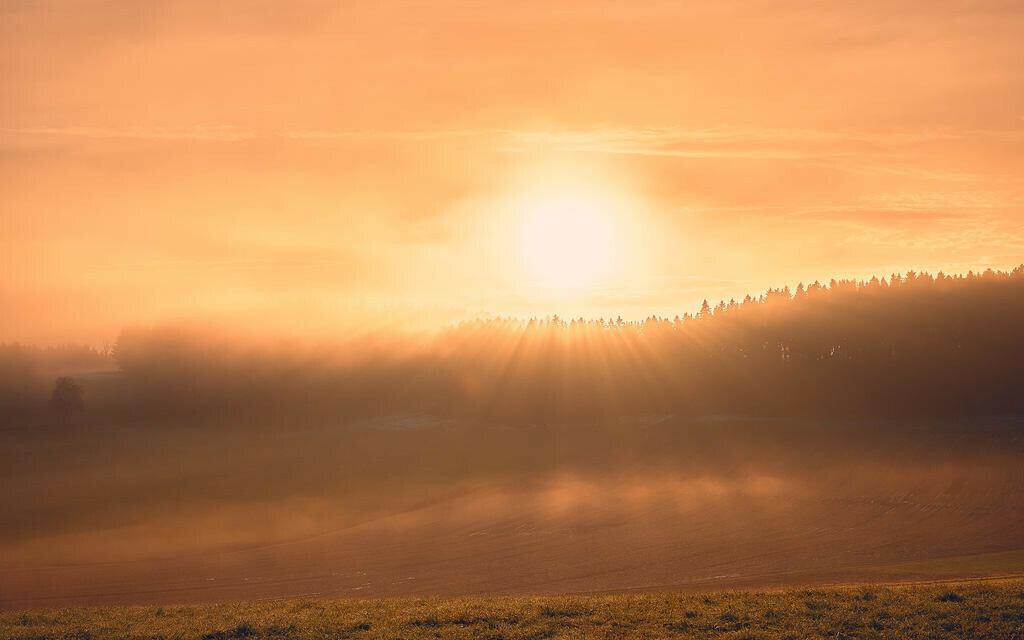 Sonnenaufgang Wängi Alp