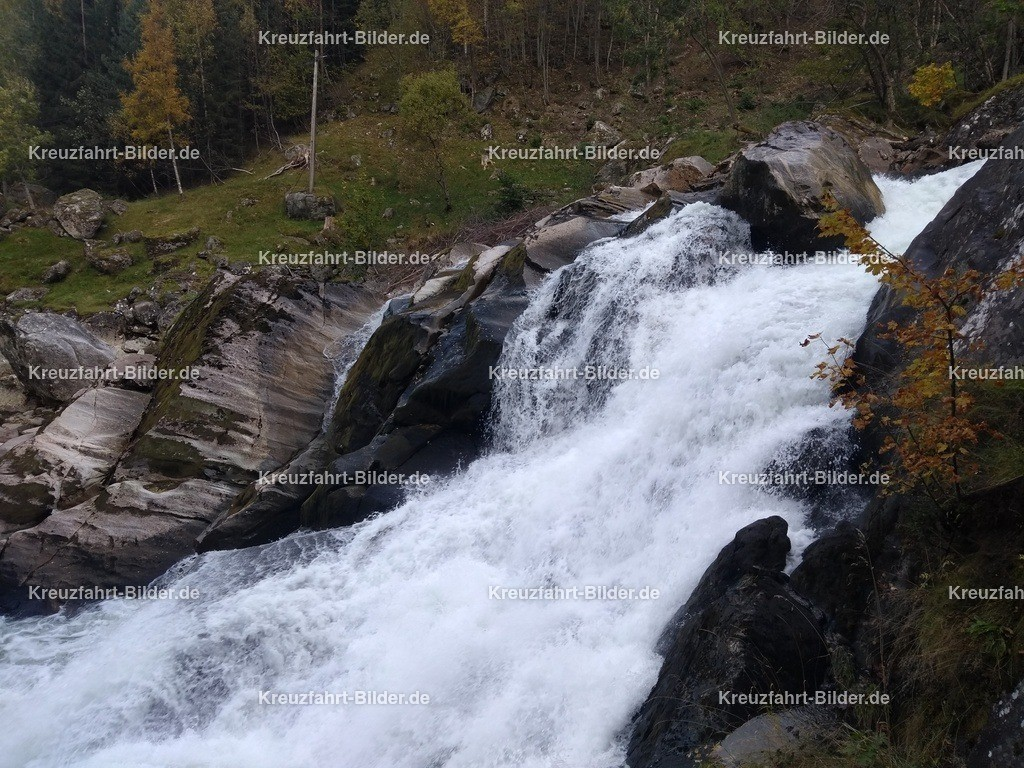 Wasserfall in Geiranger | Teile des Wasserfalls in Geiranger