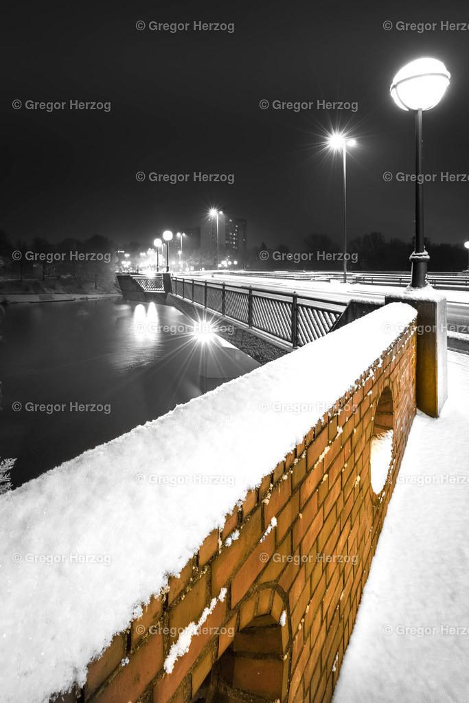 Torminbrücke im Schnee | Ein Foto aus dem neuen Kalender Münster erstrahlt 2020