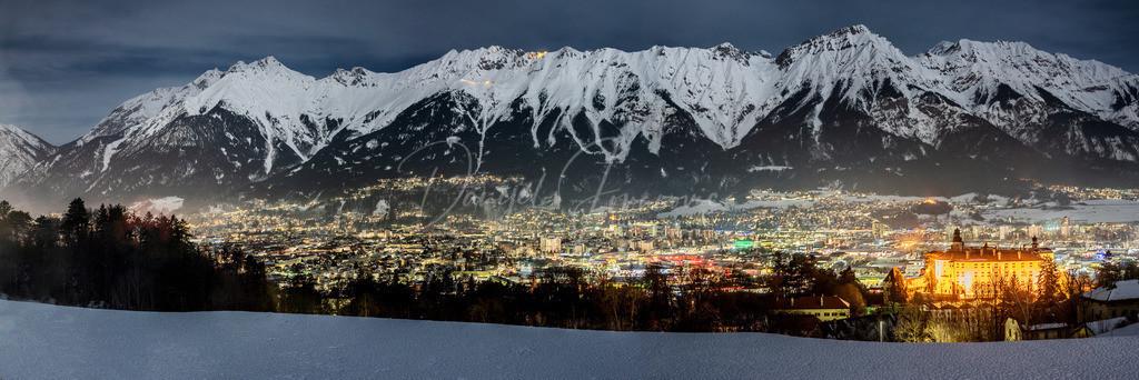 Panorama Innsbruck | Innsbrucker Panorama mit Schloss Ambras