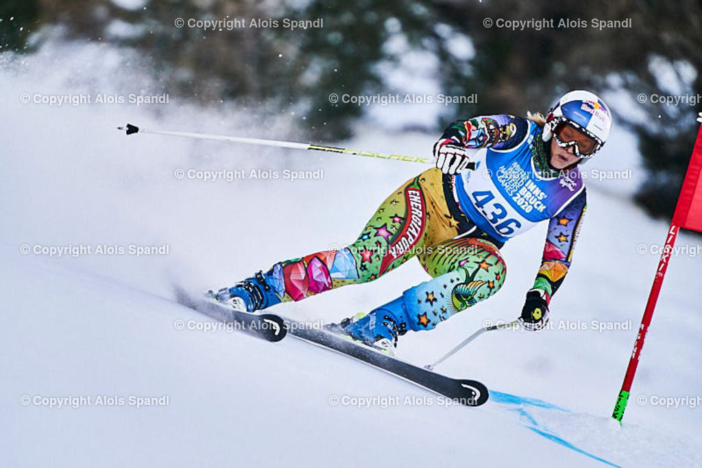 ALS5856_WWMG_GS-II_C   (C) FotoLois.com, Alois Spandl, WinterWorldMastersGames 2020 Innsbruck, Giant Slalom-II Gruppe C Damen, Patscherkofel Olympiaabfahrt, Mi 15. Jänner 2020.