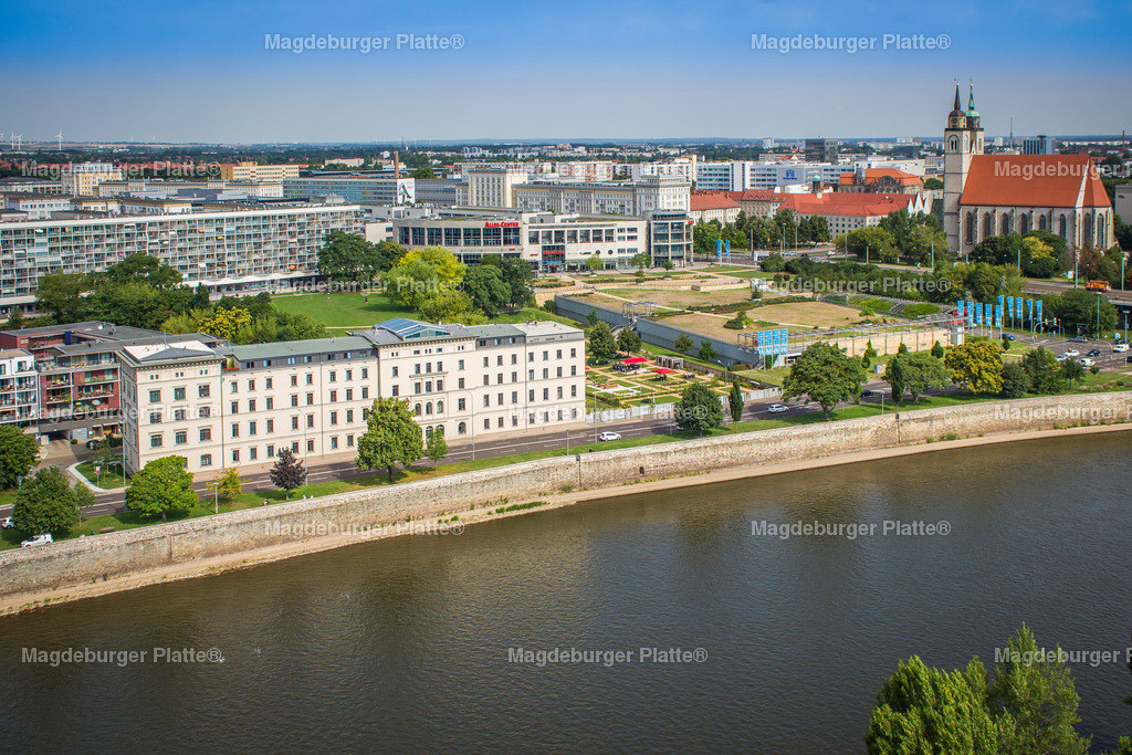 Luftbild Magdeburg Dom Stadtpark MDR Hypar-5569 | Luftbilder aus der Vogelperspektive von MAGDEBURG ... mit Drohne oder von oben fotografiert für die Bilddatenbank der Luftbildfotografie von Sachsen - Anhalt.