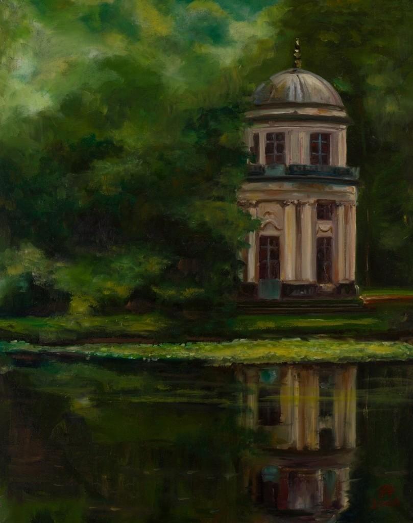 Schlosspark in Pillnitz | Originalformat: 70x55cm  -   Produktionsjahr: 2006