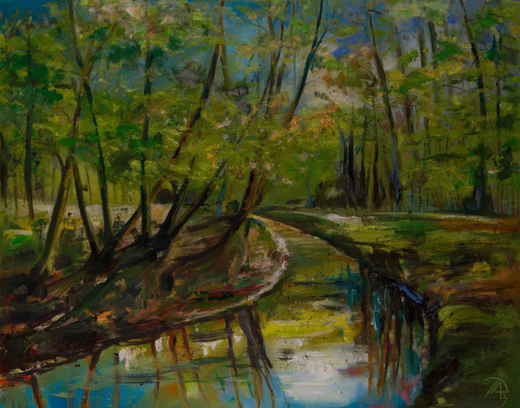Sommerlicher Wald | Originalformat: 80x100cm  -   Produktionsjahr: 2009