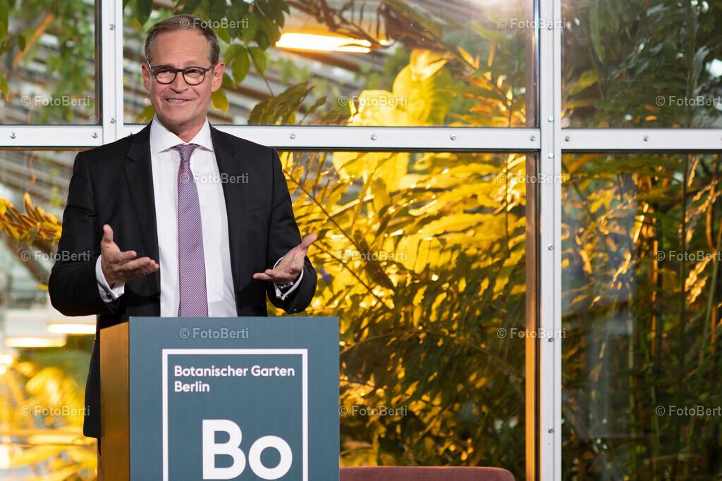 Abend zum Zukunftskonzept des Botanischen Gartens Berlin   Berlins Regierender Buergermeister Michael Müller