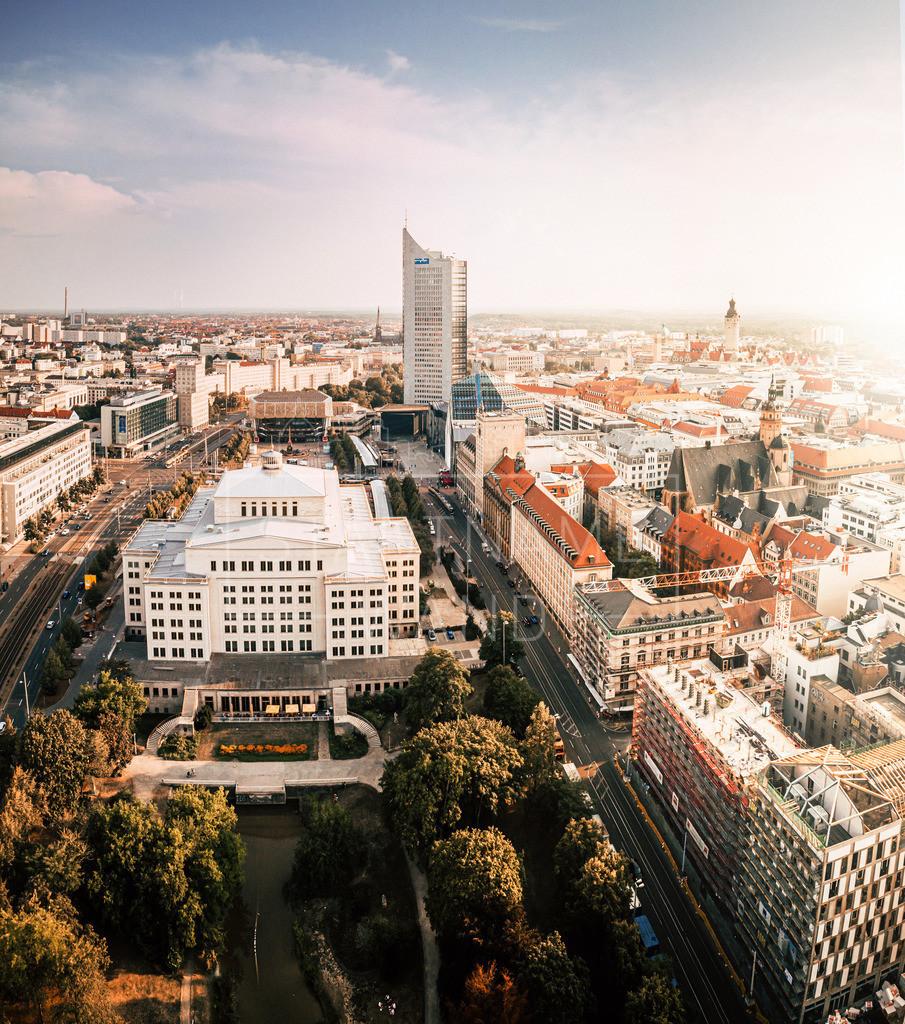 Leipzig Zentrum Oper Uniriese Luftbild