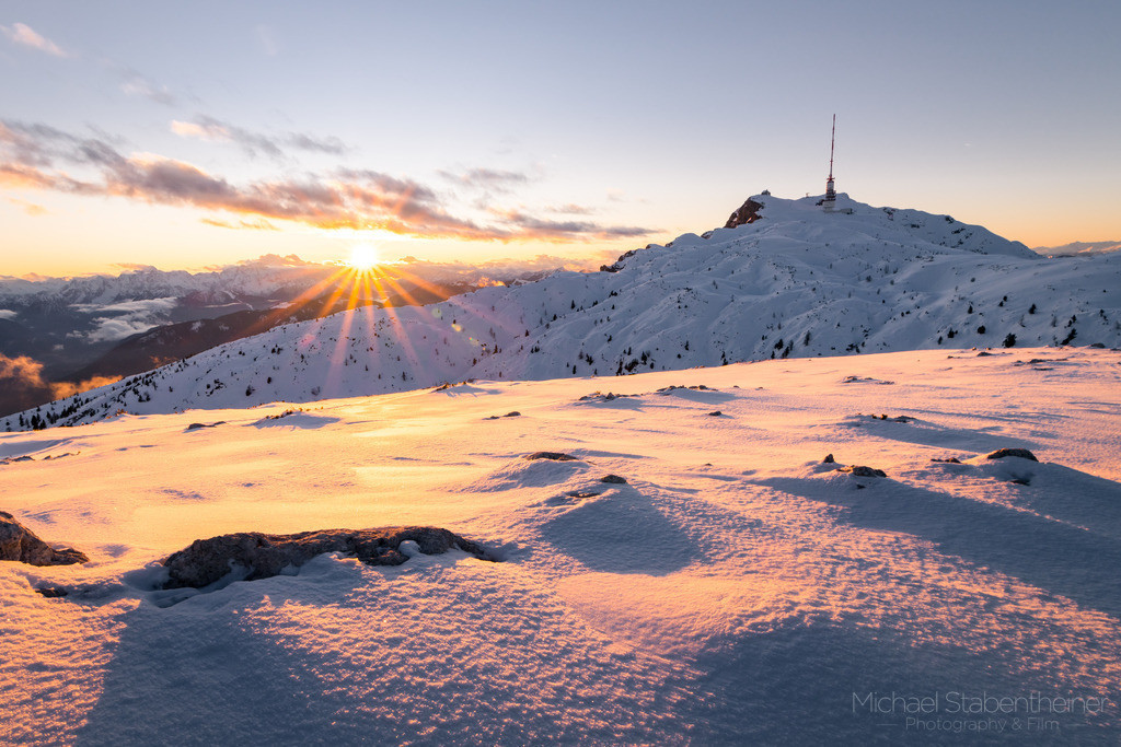 Sonnenuntergang am Dobratsch | Sonnenuntergang am Dobratsch bei Villach in Kärnten