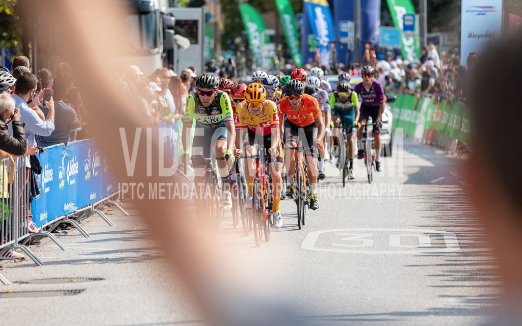 81st Skoda-Tour de Luxembourg 2021   81st Skoda-Tour de Luxembourg 2021, Stage 5 Mersch - Luxembourg; Luxembourg, 18.09.2021: The peloton racing through the city of Luxembourg