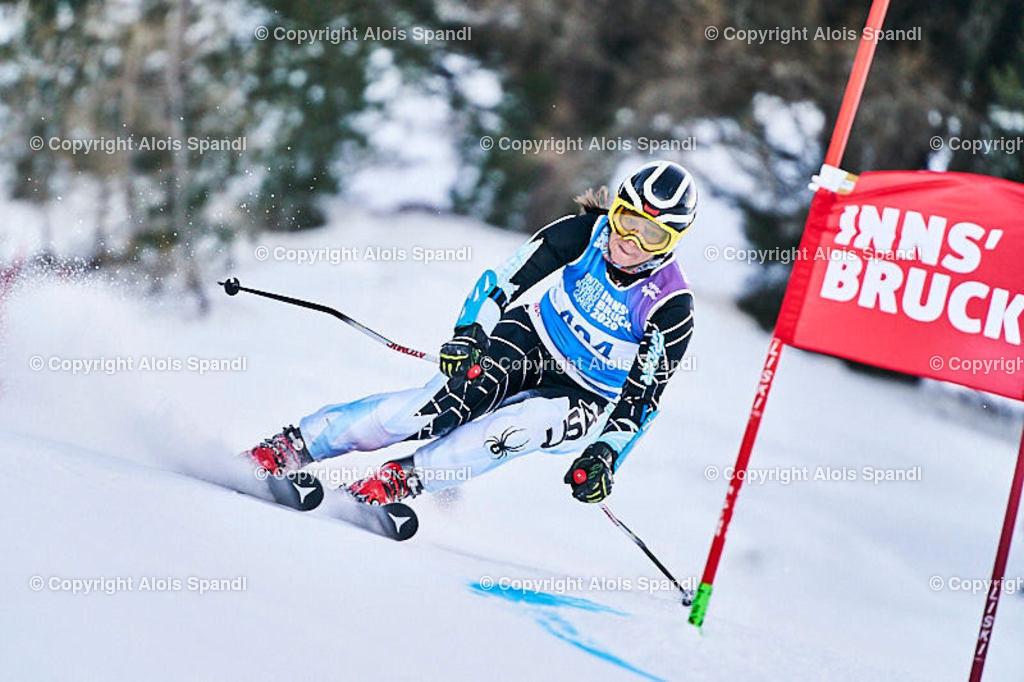 ALS5704_WWMG_GS-II_C   (C) FotoLois.com, Alois Spandl, WinterWorldMastersGames 2020 Innsbruck, Giant Slalom-II Gruppe C Damen, Patscherkofel Olympiaabfahrt, Mi 15. Jänner 2020.