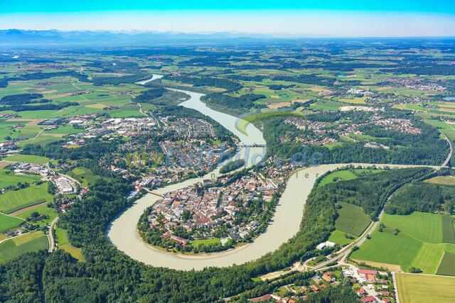 luftbild-wasserburg am inn-bruno-kapeller-02 | Luftaufnahme von Wasserburg am Inn im Sommer 2019