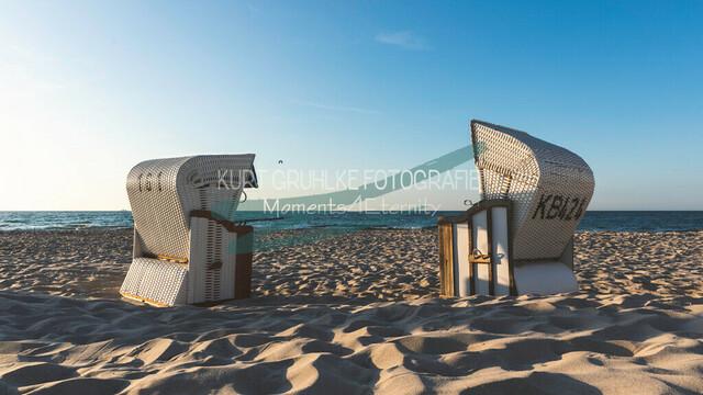 Strandmotiv Strandkorb