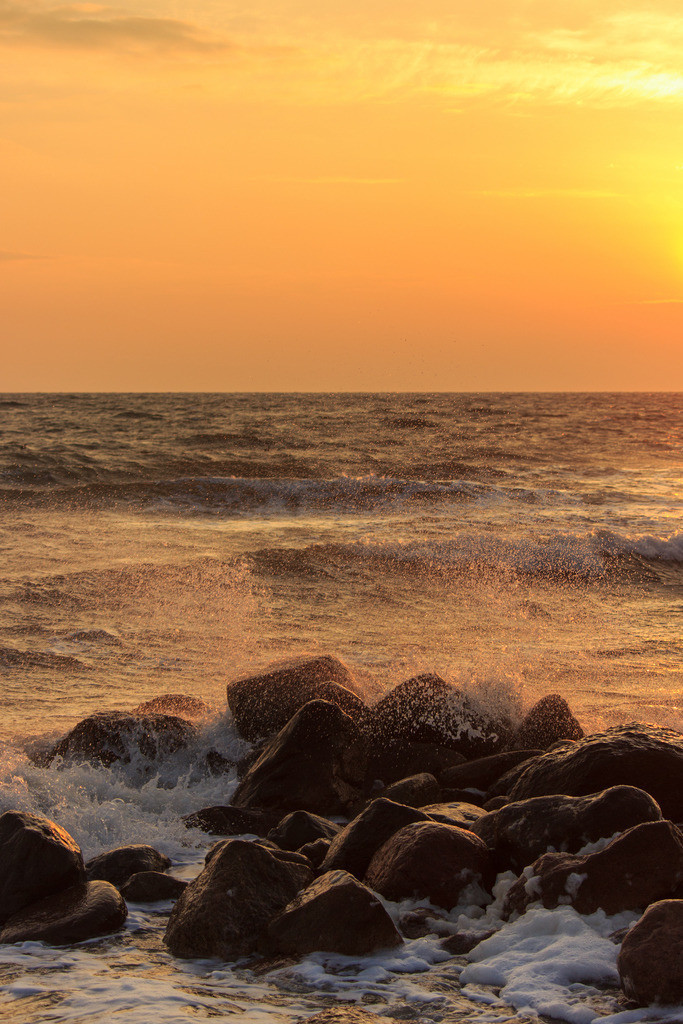 Morgenrot an der Ostsee | Sonnenaufgang in Damp