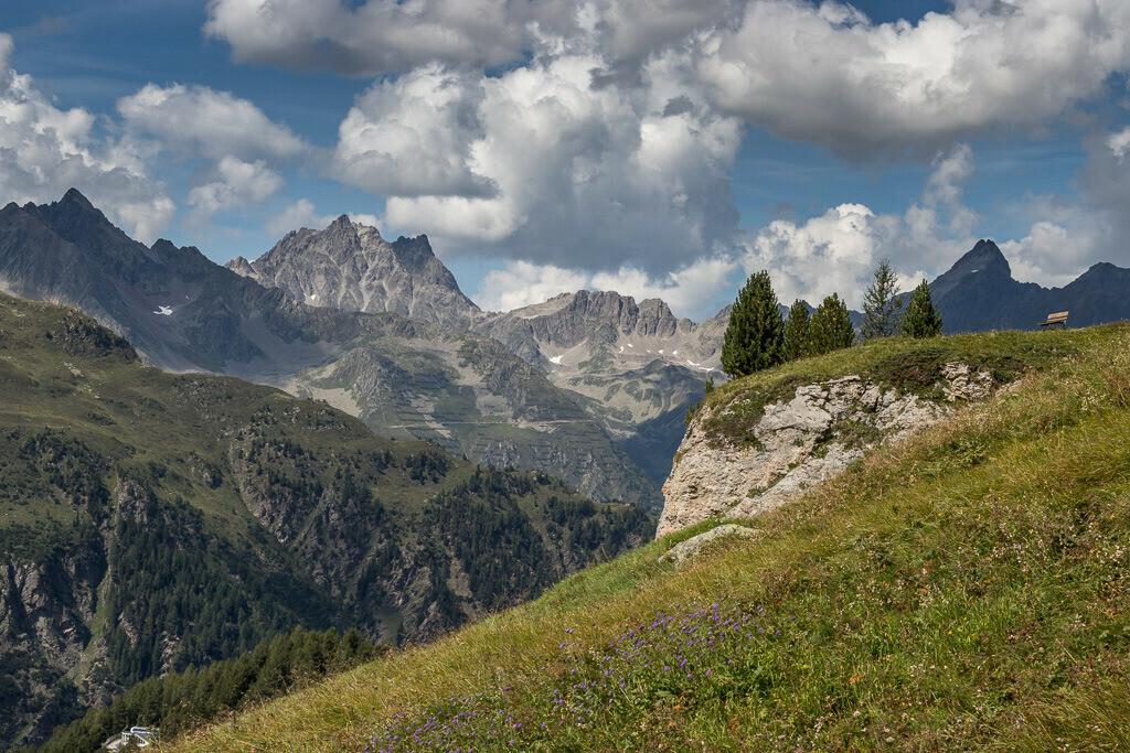 Ausblick in den Paznauner Alpen