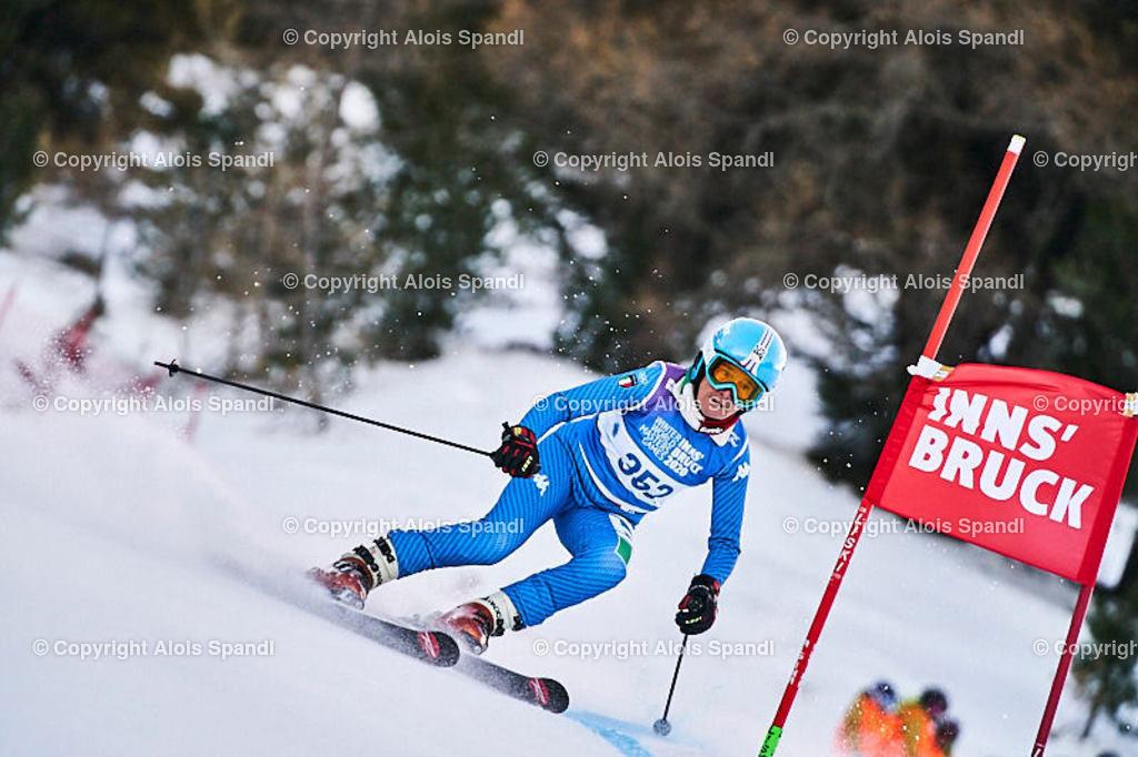 ALS5420_WWMG_GS-II_C   (C) FotoLois.com, Alois Spandl, WinterWorldMastersGames 2020 Innsbruck, Giant Slalom-II Gruppe C Damen, Patscherkofel Olympiaabfahrt, Mi 15. Jänner 2020.