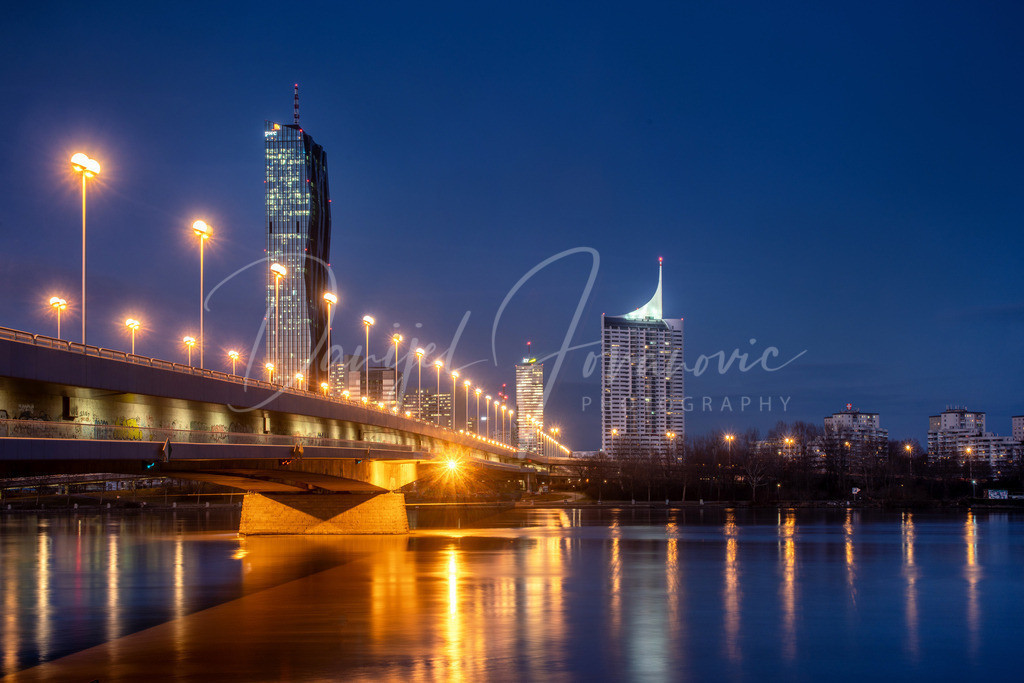 Donau | Blick über die Donau in Richtung Donaucity