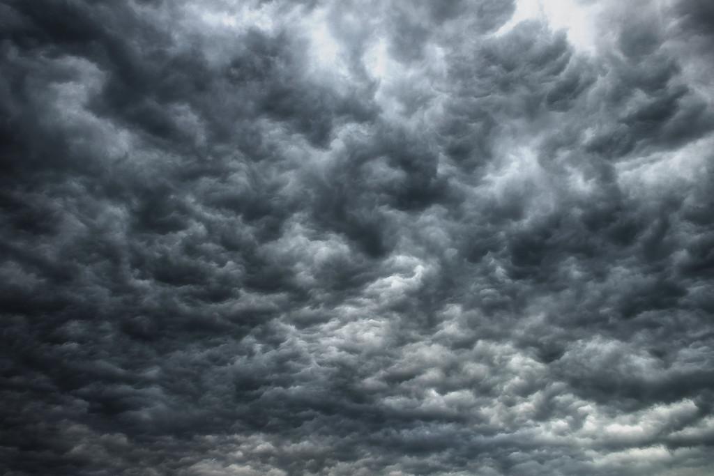 Marmorwolken | dramatischer Wolkenhimmel, schwarz/weiss