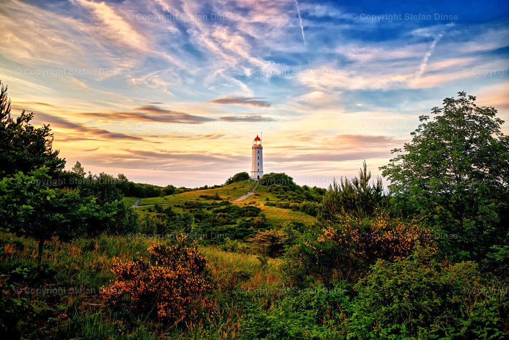 lighthouse Dornbusch on isle of Hiddensee in the baltic sea | lighthouse Dornbusch on isle of Hiddensee in the baltic sea